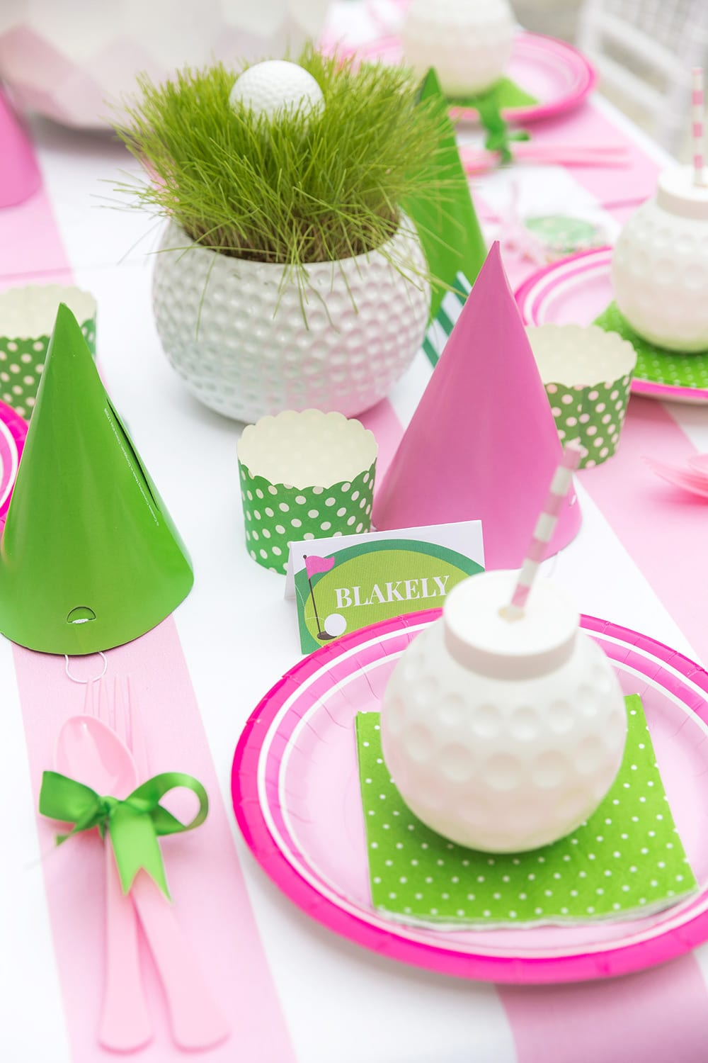 Golf Birthday Partee Table