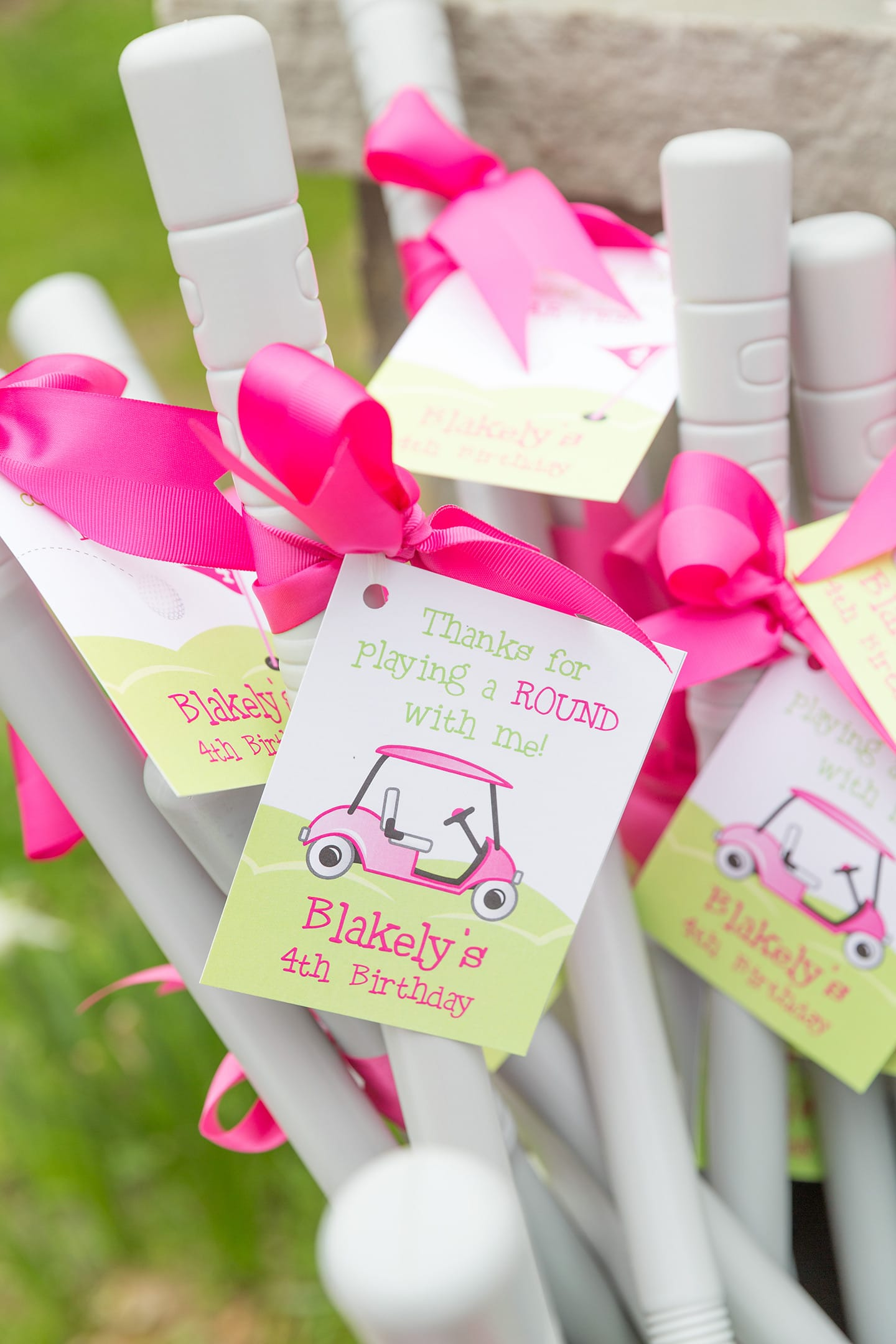 Golf Club Party Favors