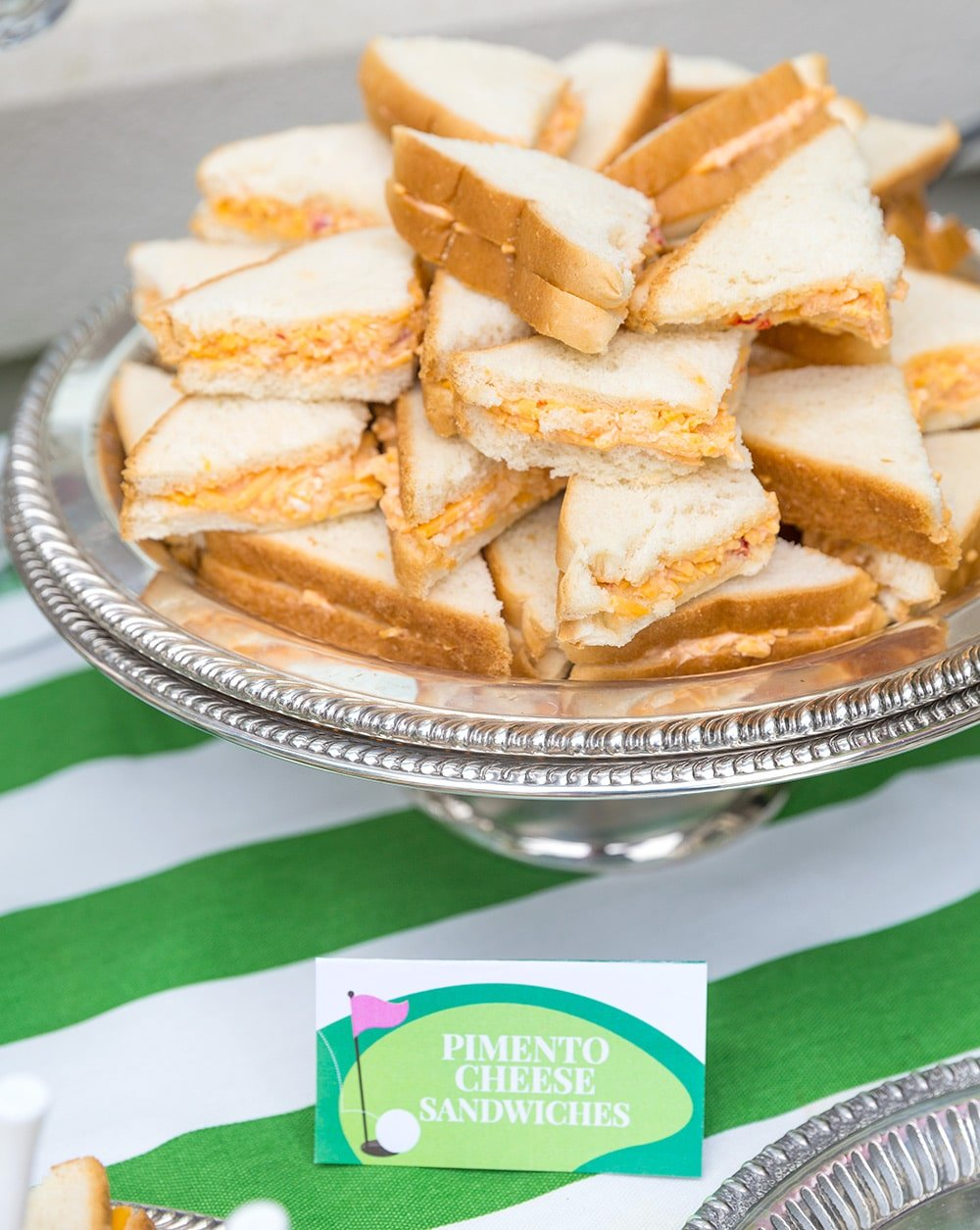 Masters Pimento Cheese Sandwiches for Golf Partee