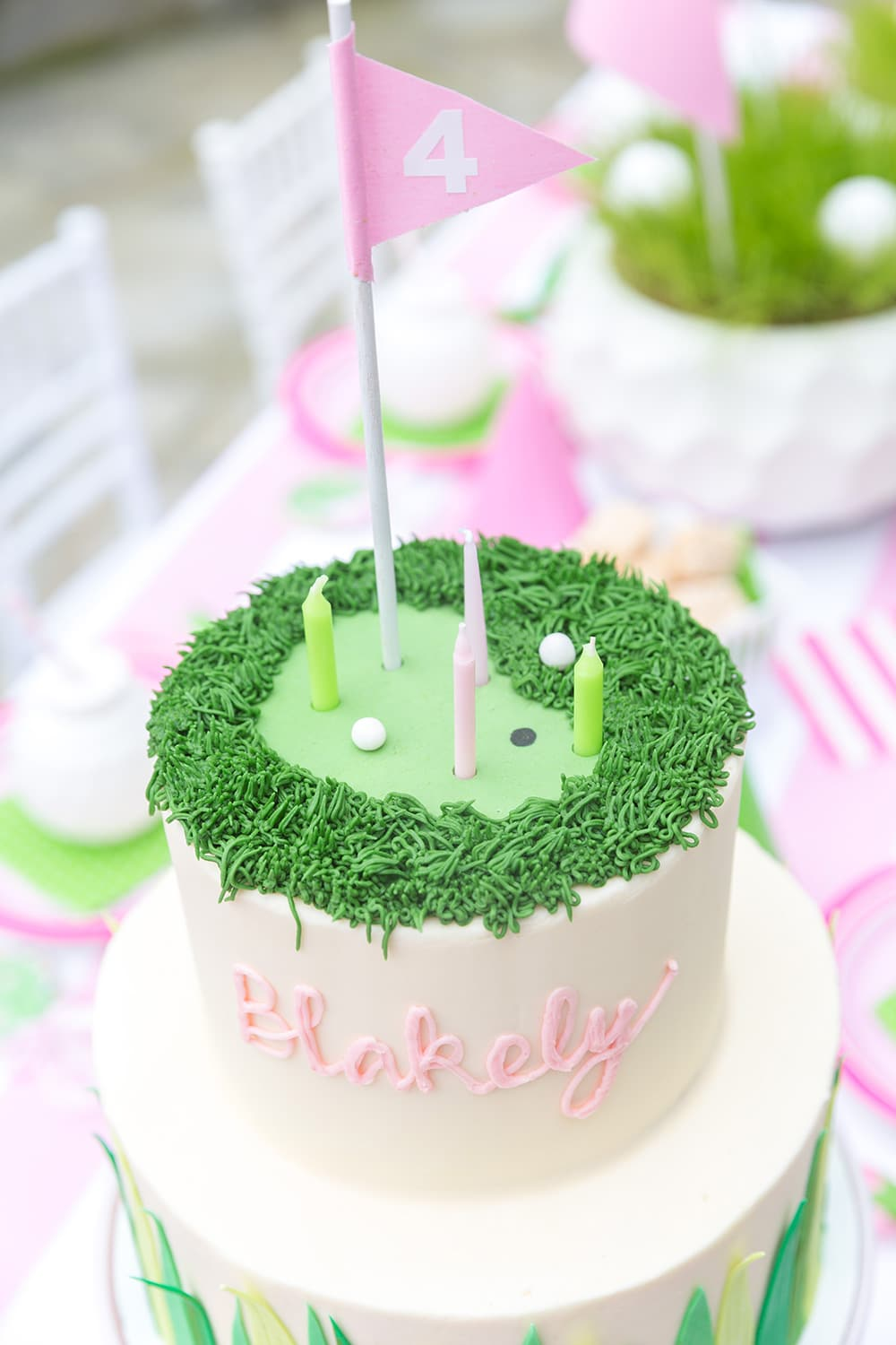 Golf Cake for Birthday Party