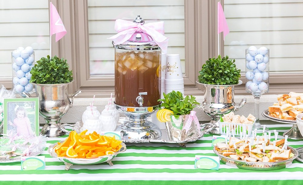 Golf Themed Birthday Party Table