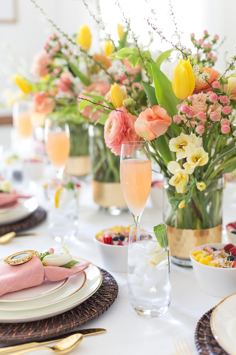 Mother's Day Brunch Floral Tablescape
