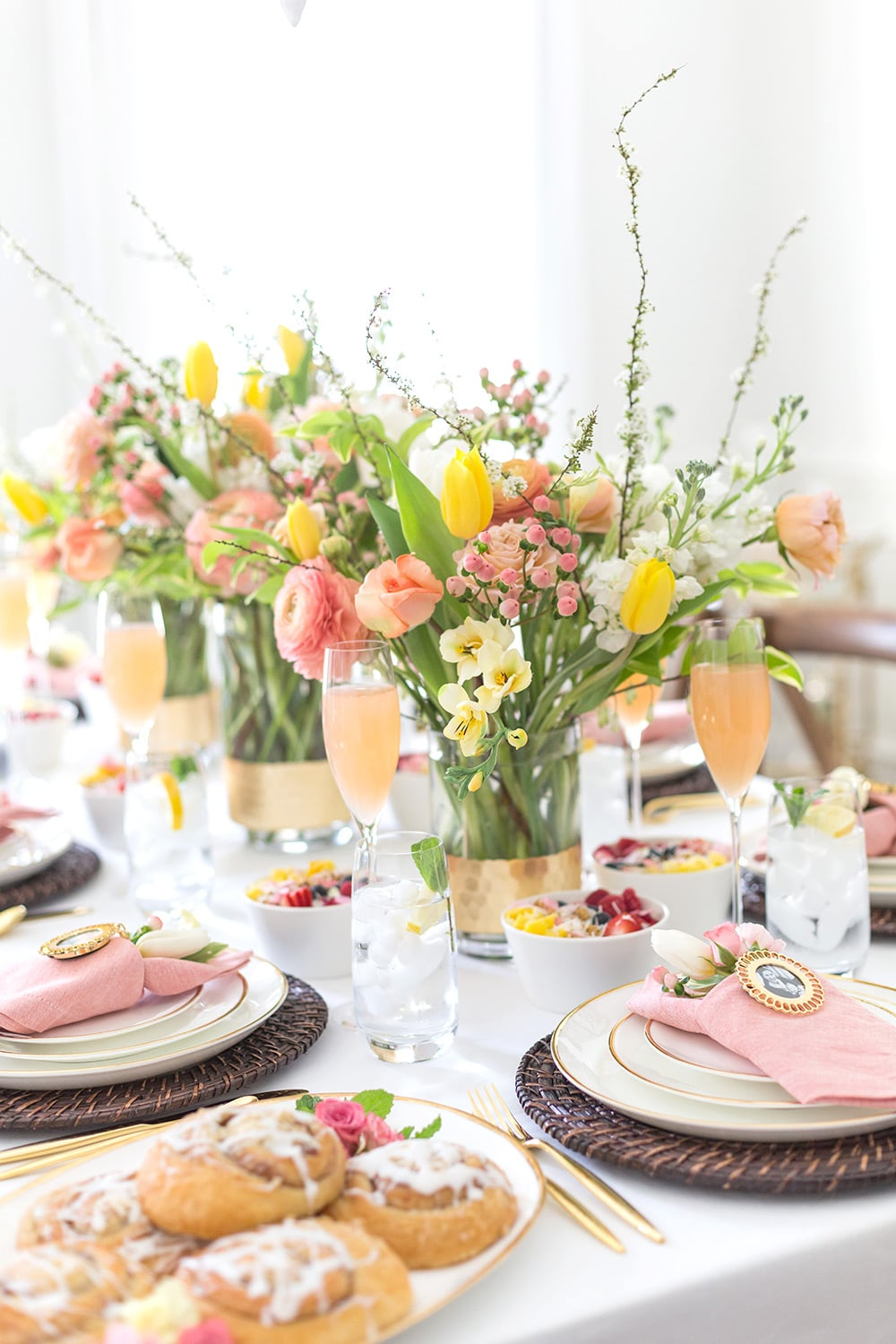 Gorgeous Floral Tablescape for Mother's Day Brunch