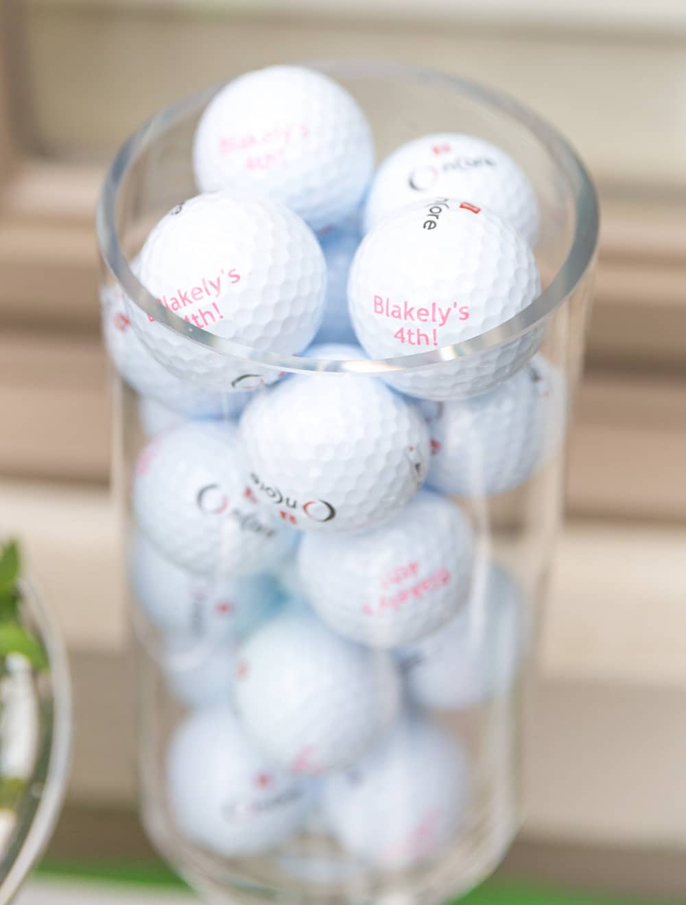 Pink Birthday Golf Balls