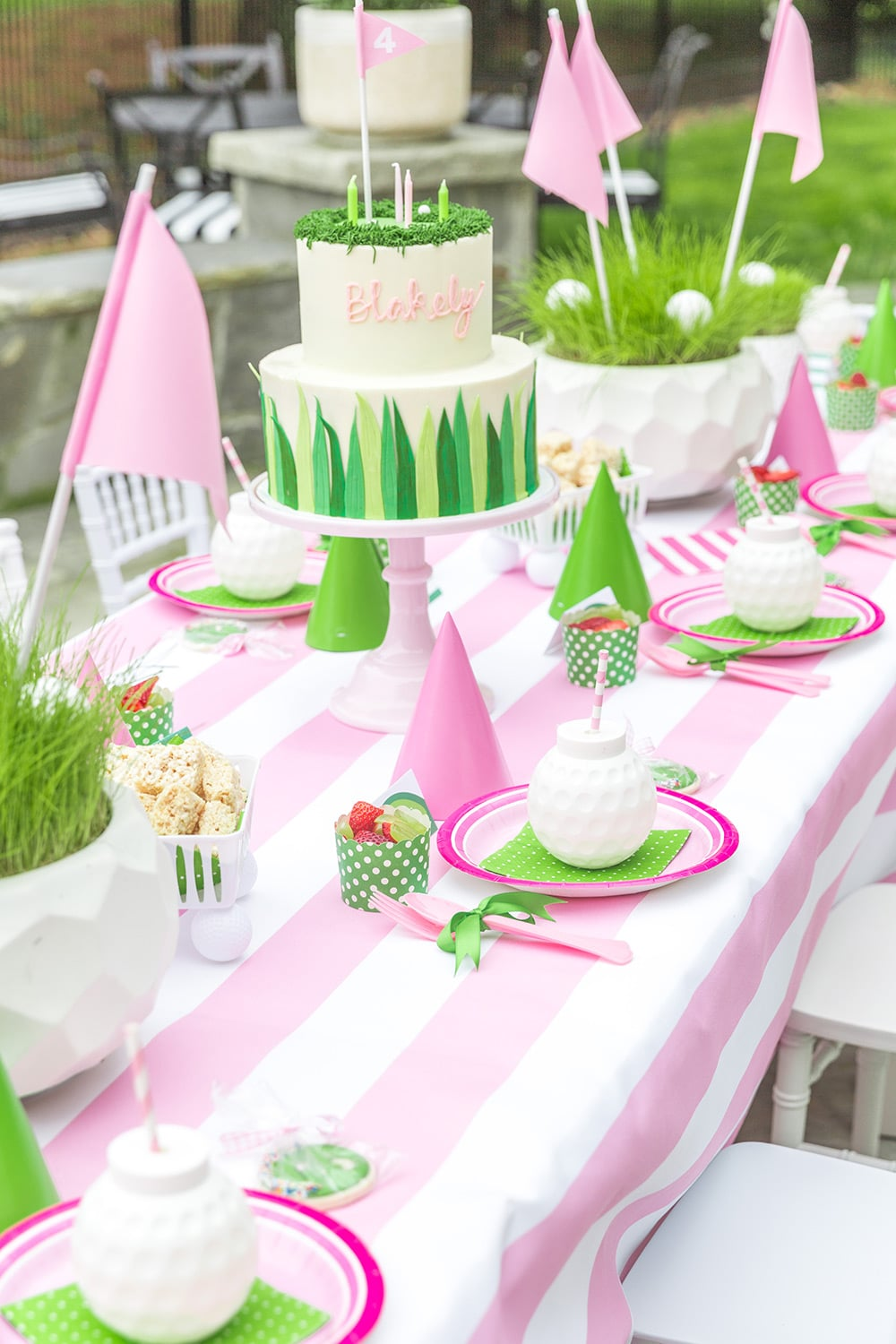 Golf Birthday Party Table