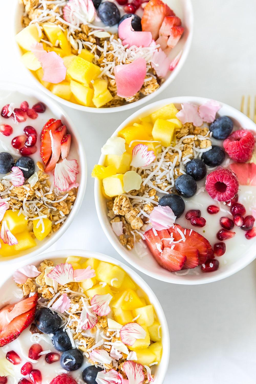 Yogurt Bowls for Mothers Day Brunch