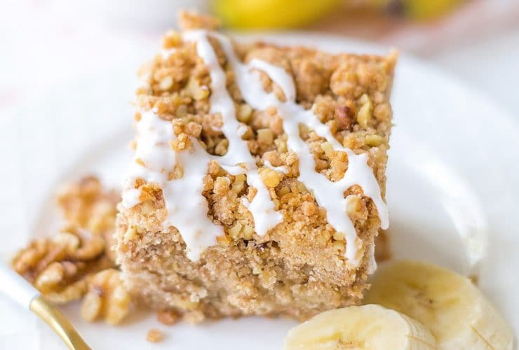 Banana Walnut Crumb Cake