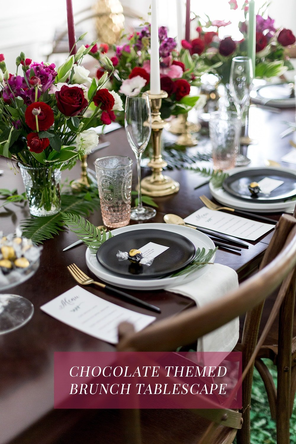 Chocolate Themed Brunch Tablescape Inspiration!