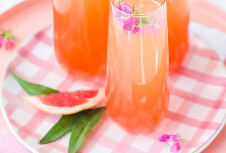 Citrus Champagne Punch Drink Recipe