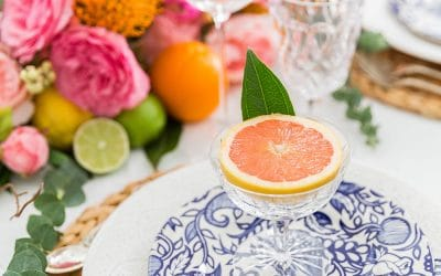 Fruit and Floral Centerpiece Runner