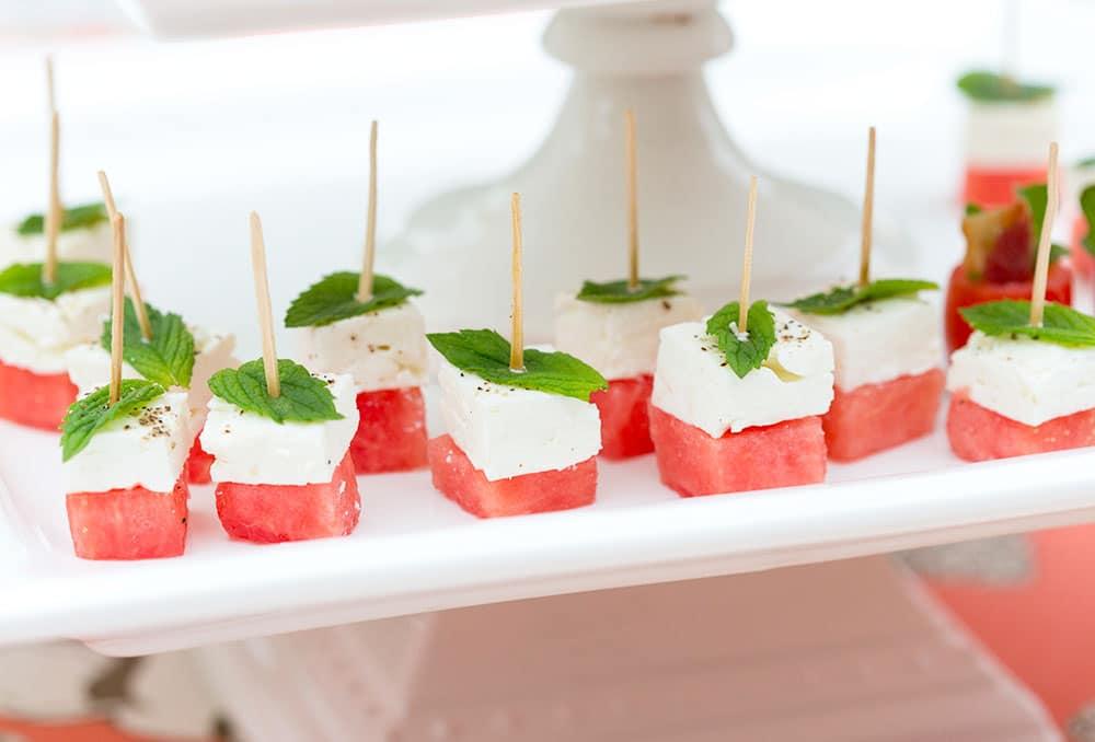 Watermelon Feta Skewers | Healthy Appetizer