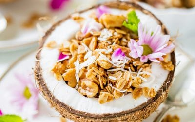 Homemade Coconut Walnut Granola