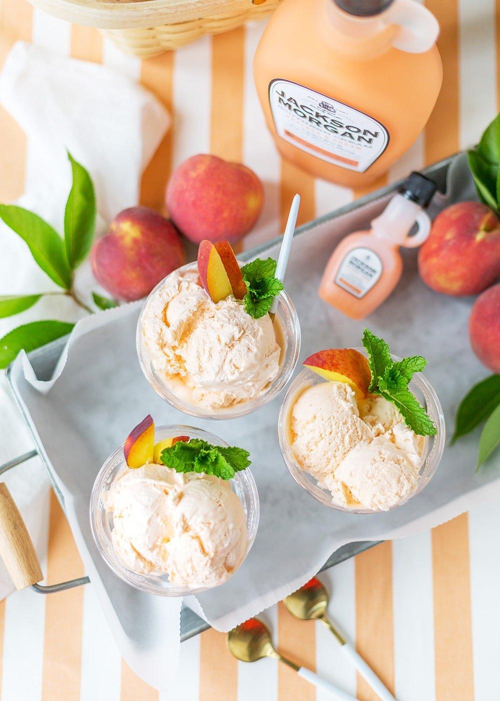 Boozy Peach Ice Cream