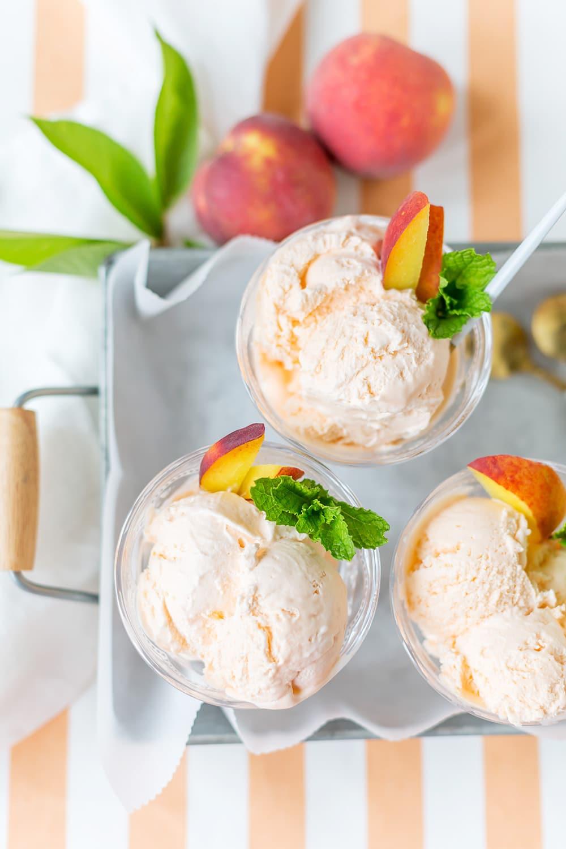 Peach Flavored Ice Cream