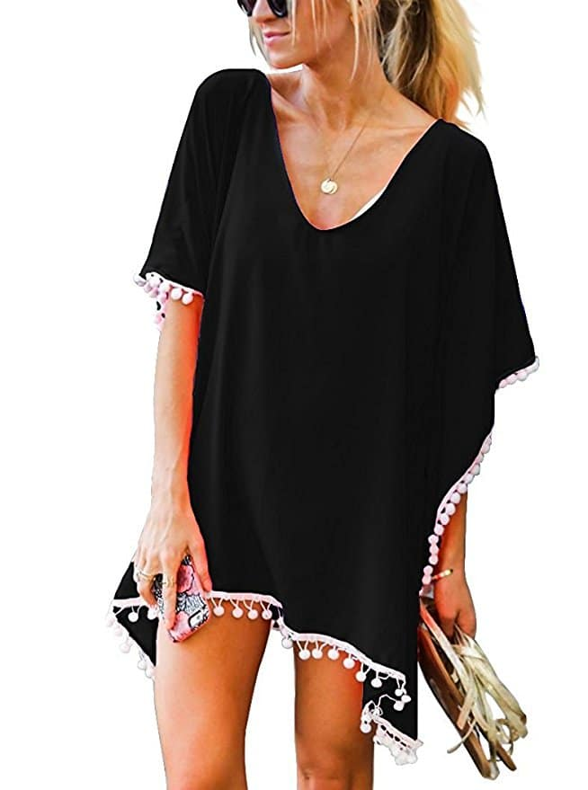 Pom Pom Swim Cover Up