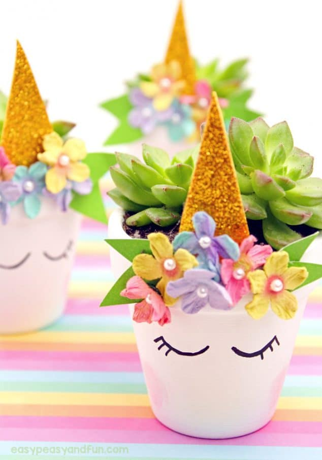 Unicorn Flower Pot DIY