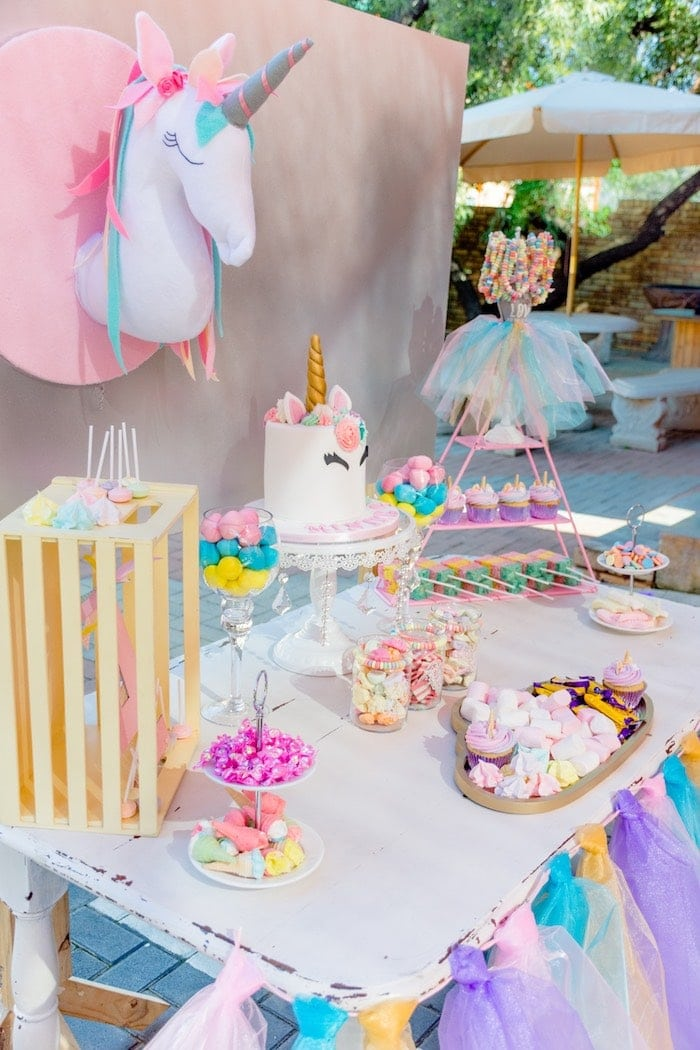 Unicorn and Rainbows Birthday Party