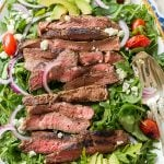 black and blue steak salad