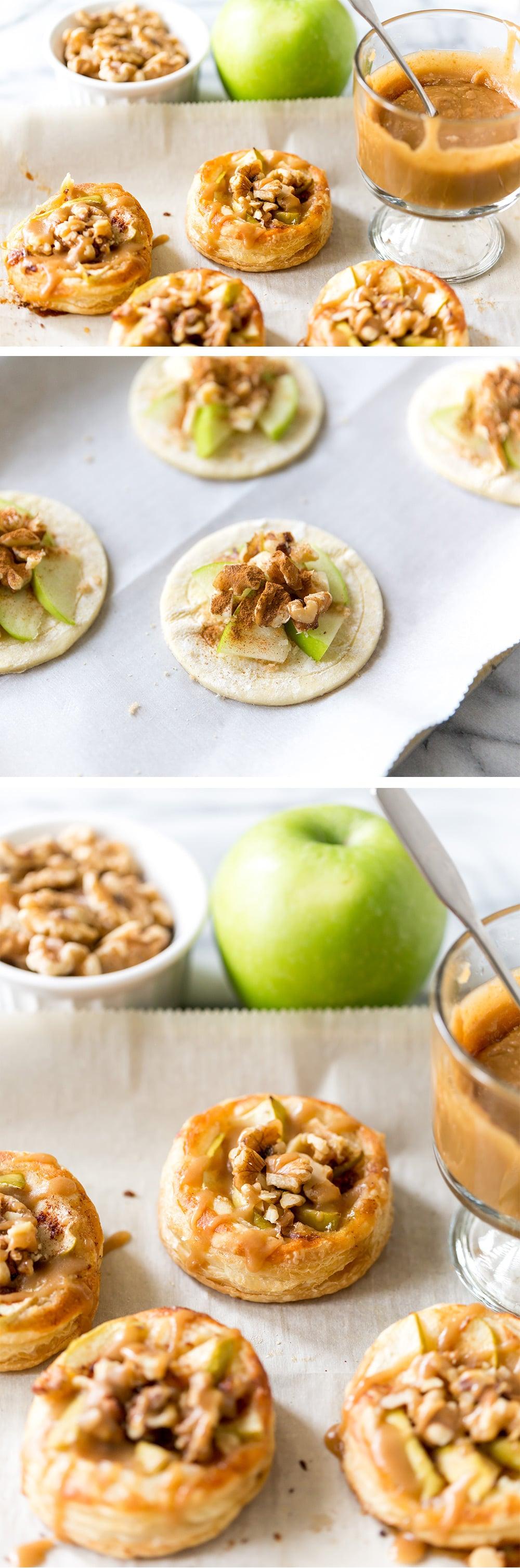 Mini Apple Walnut Galettes