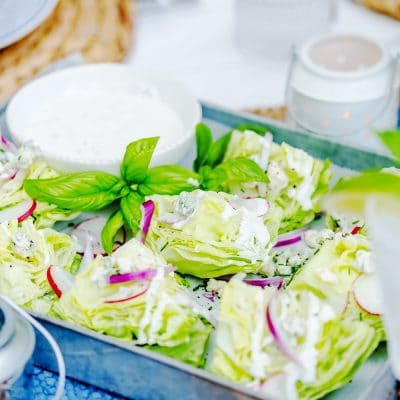 a tray of miniature wedge salads