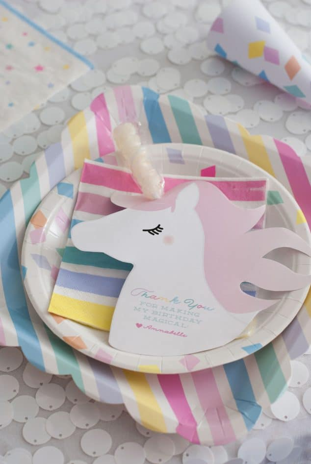 Unicorn Place Setting