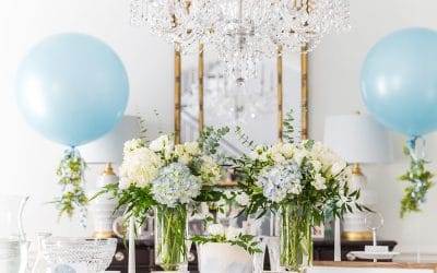 Elegant Blue & White Baby Shower