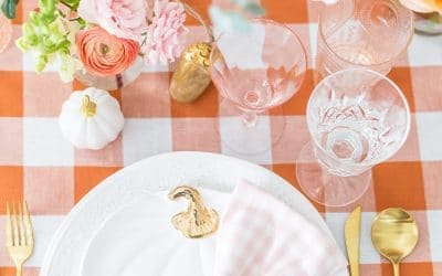My Blush Pink and Orange Fall Tablescape