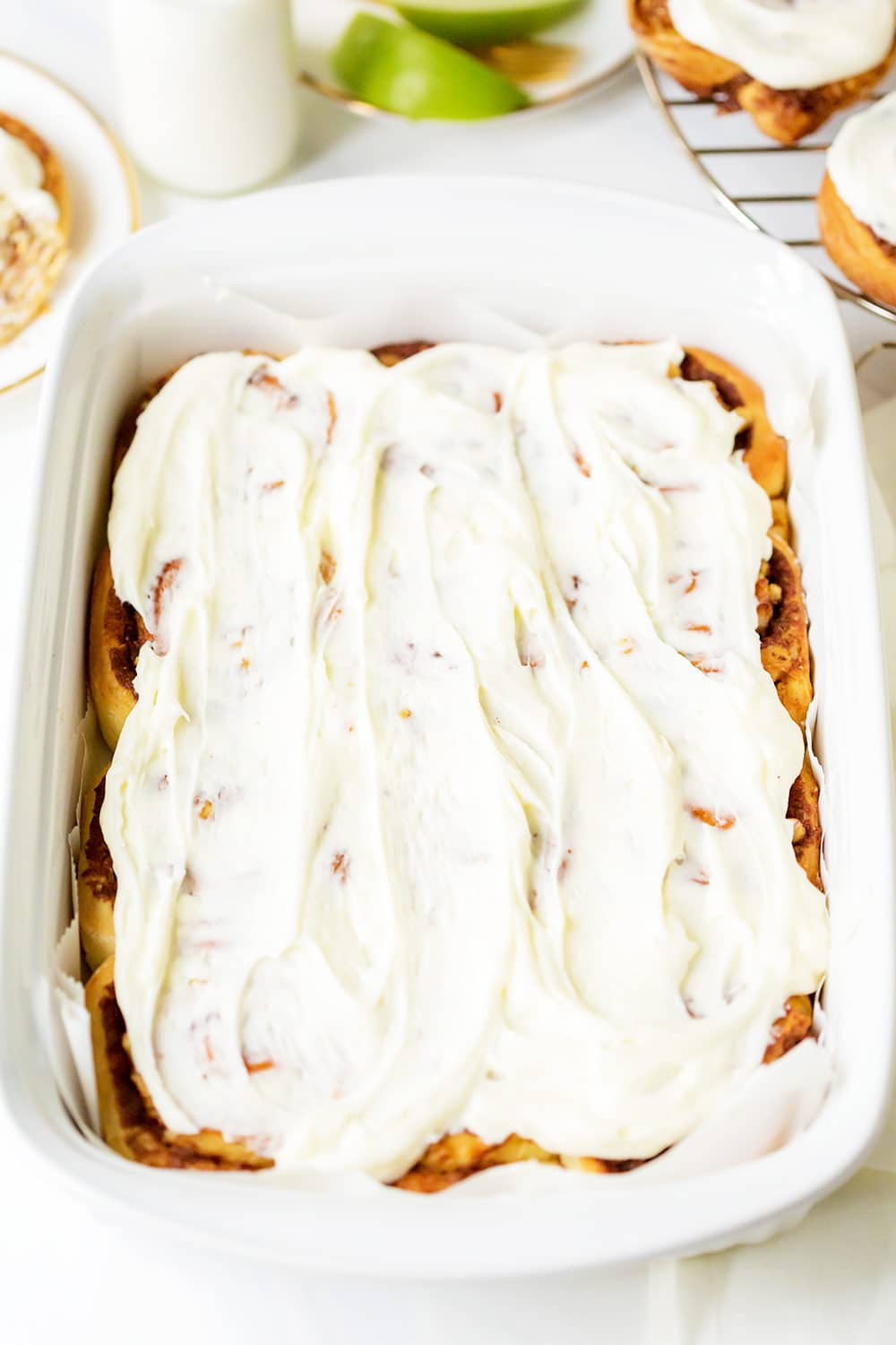 Apple Walnut Cinnamon Rolls