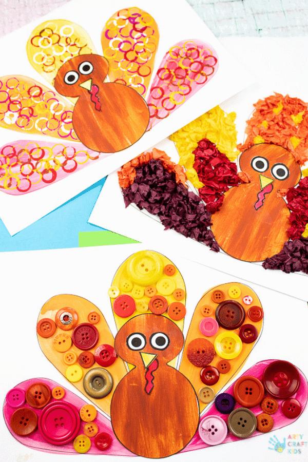 Crafty Turkeys for Thanksgiving