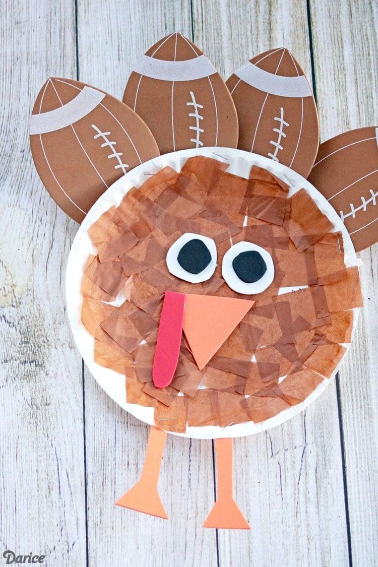 Football Turkey Craft for Thanksgiving