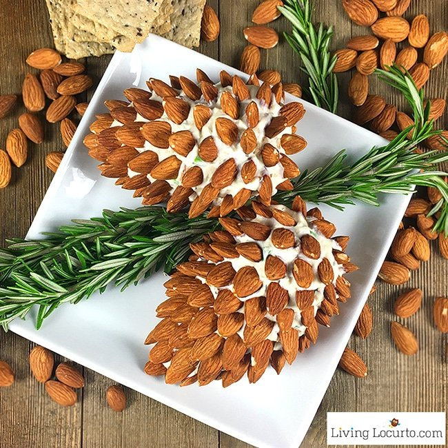 Christmas Appetizers Pine Cone