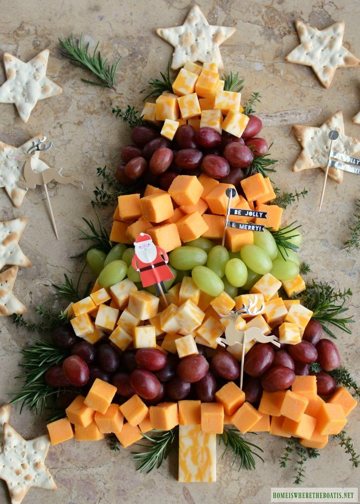 Christmas Tree Cheese Appetizer