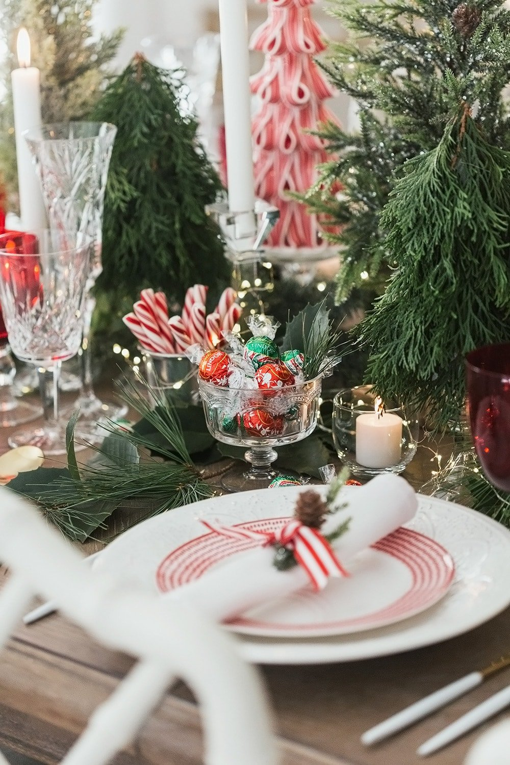 Holiday Peppermint Tablescape