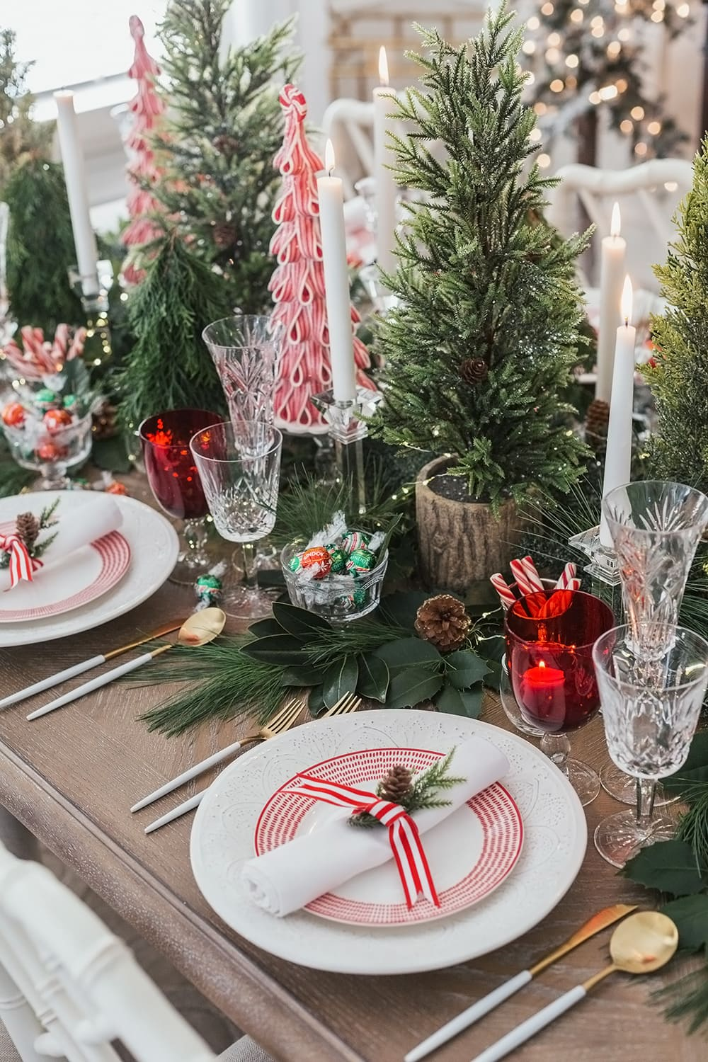 Peppermint Holiday Dinner Party