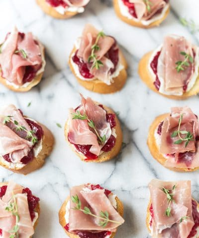 Cranberry and Prosciutto Crostini