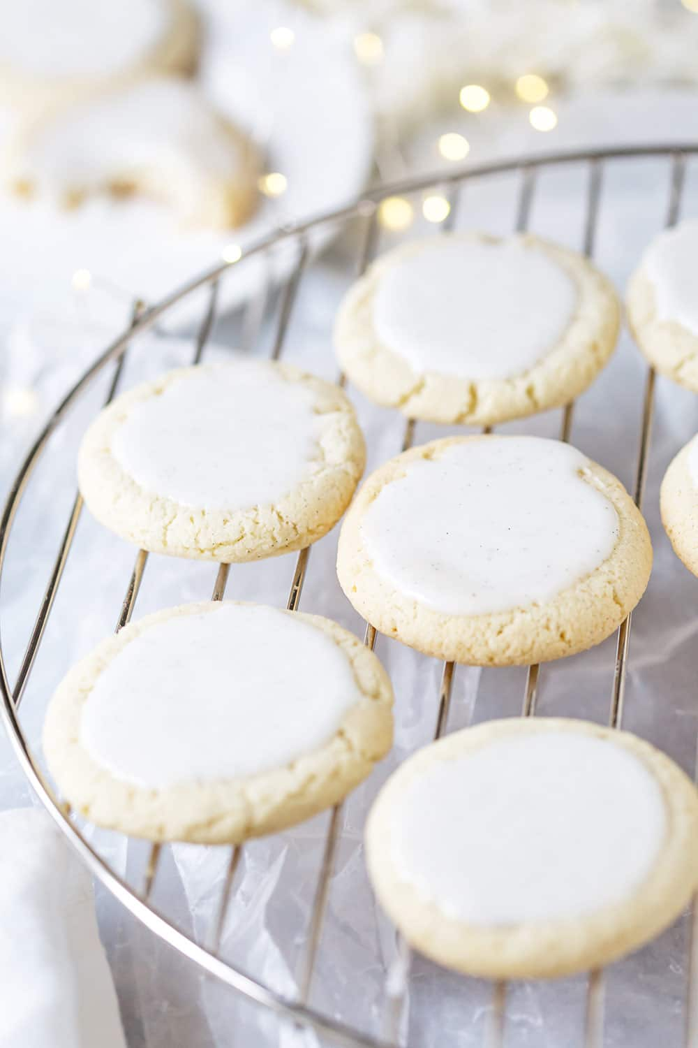 Iced Vanilla Bean Sugar Cookies