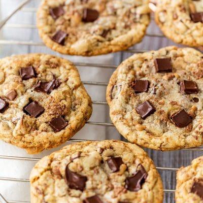 Chocolate Chunk Toffee Cookies