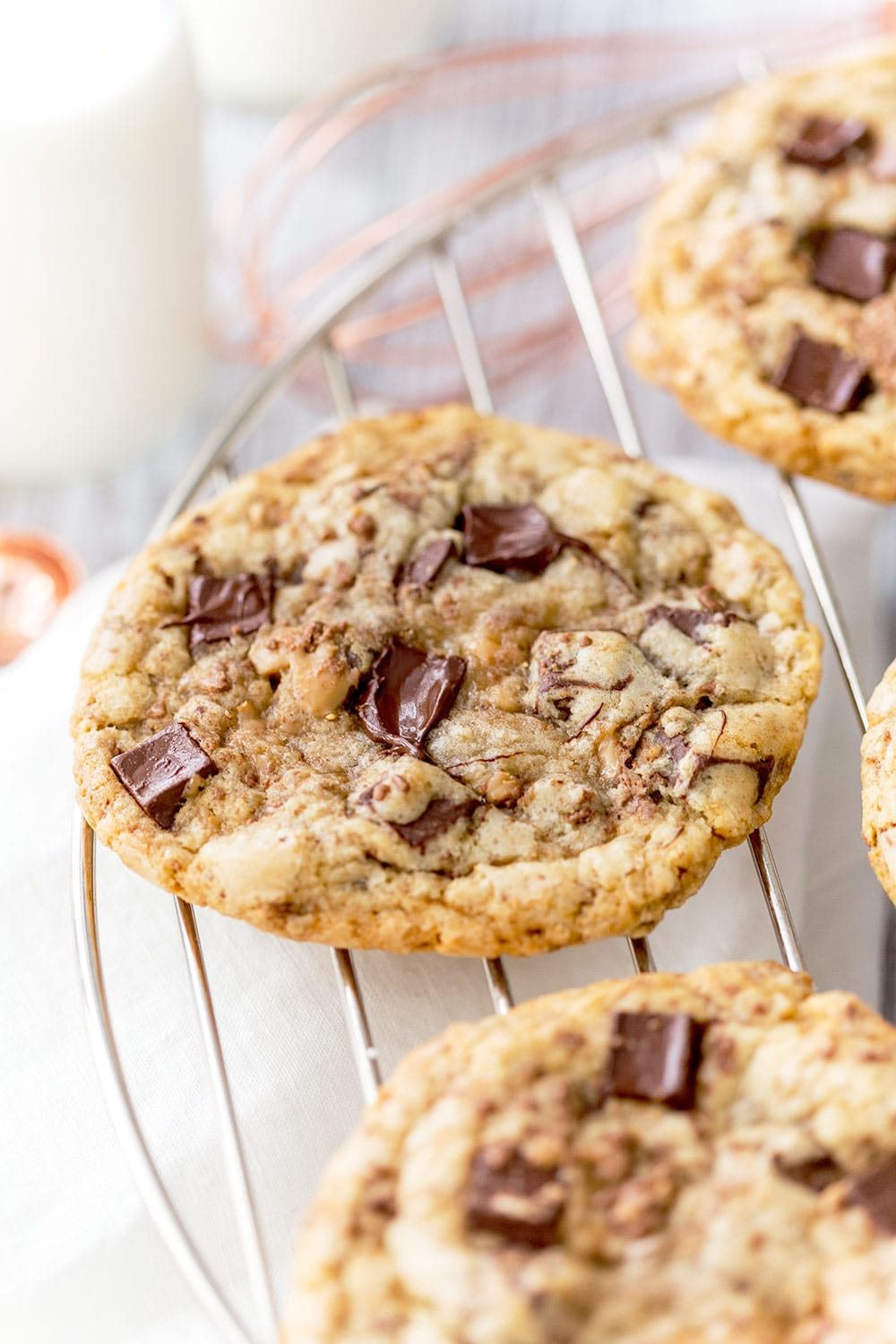 Chocolate Chunk Toffee Cookies