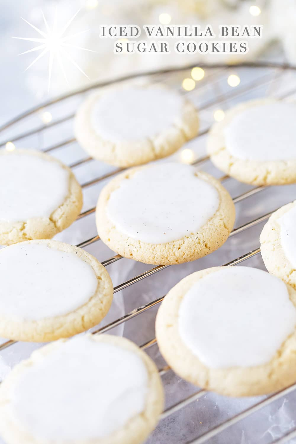 Iced vanilla bean sugar cookies!