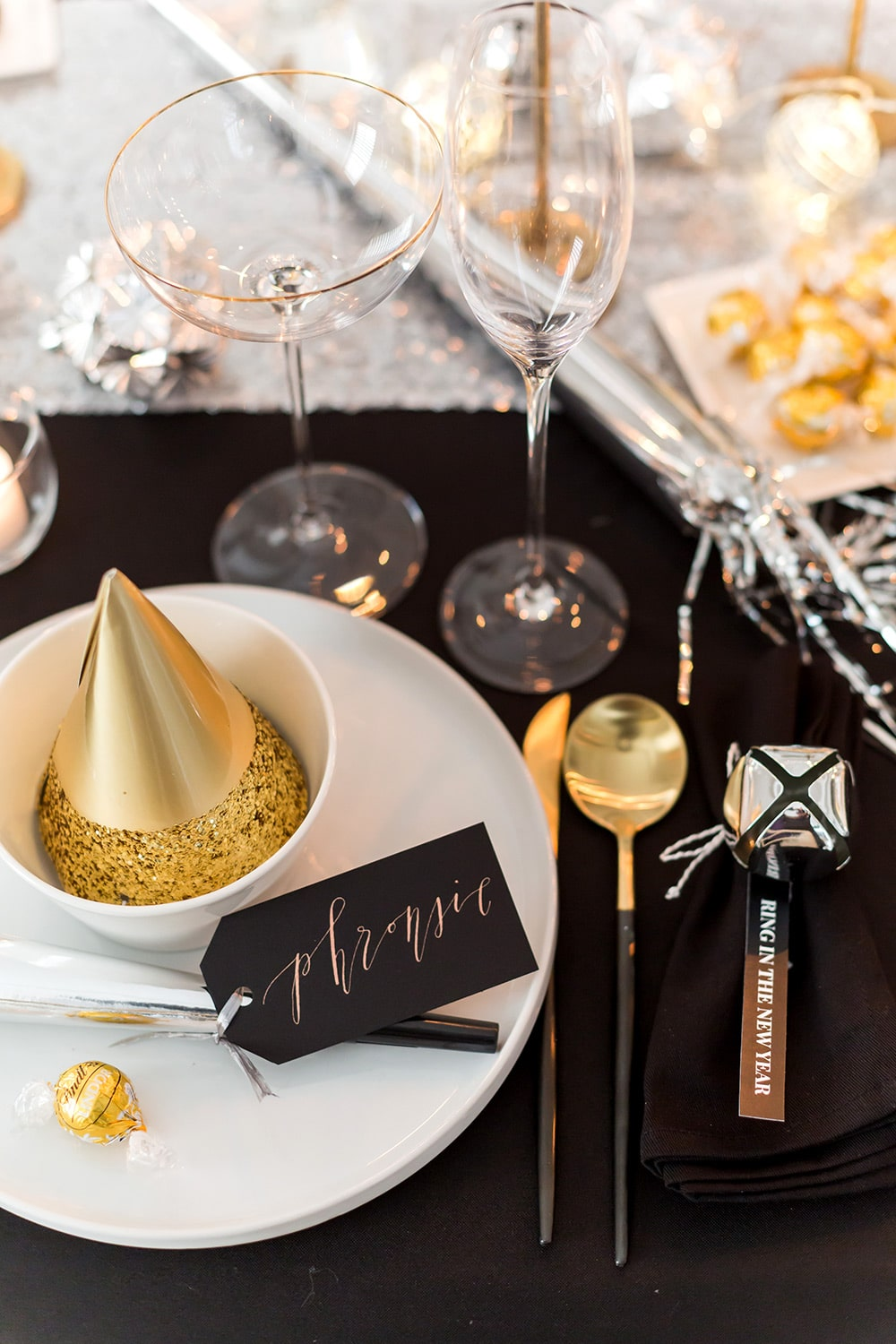 New Year's Eve Place Setting