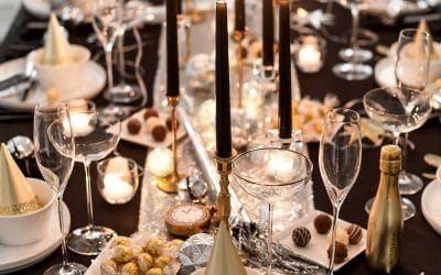 New Year's Eve Dinner Party Tablescape
