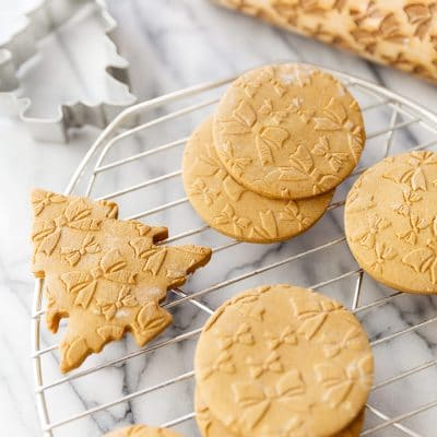 Gingerbread Cookie Dough that Won't Spread