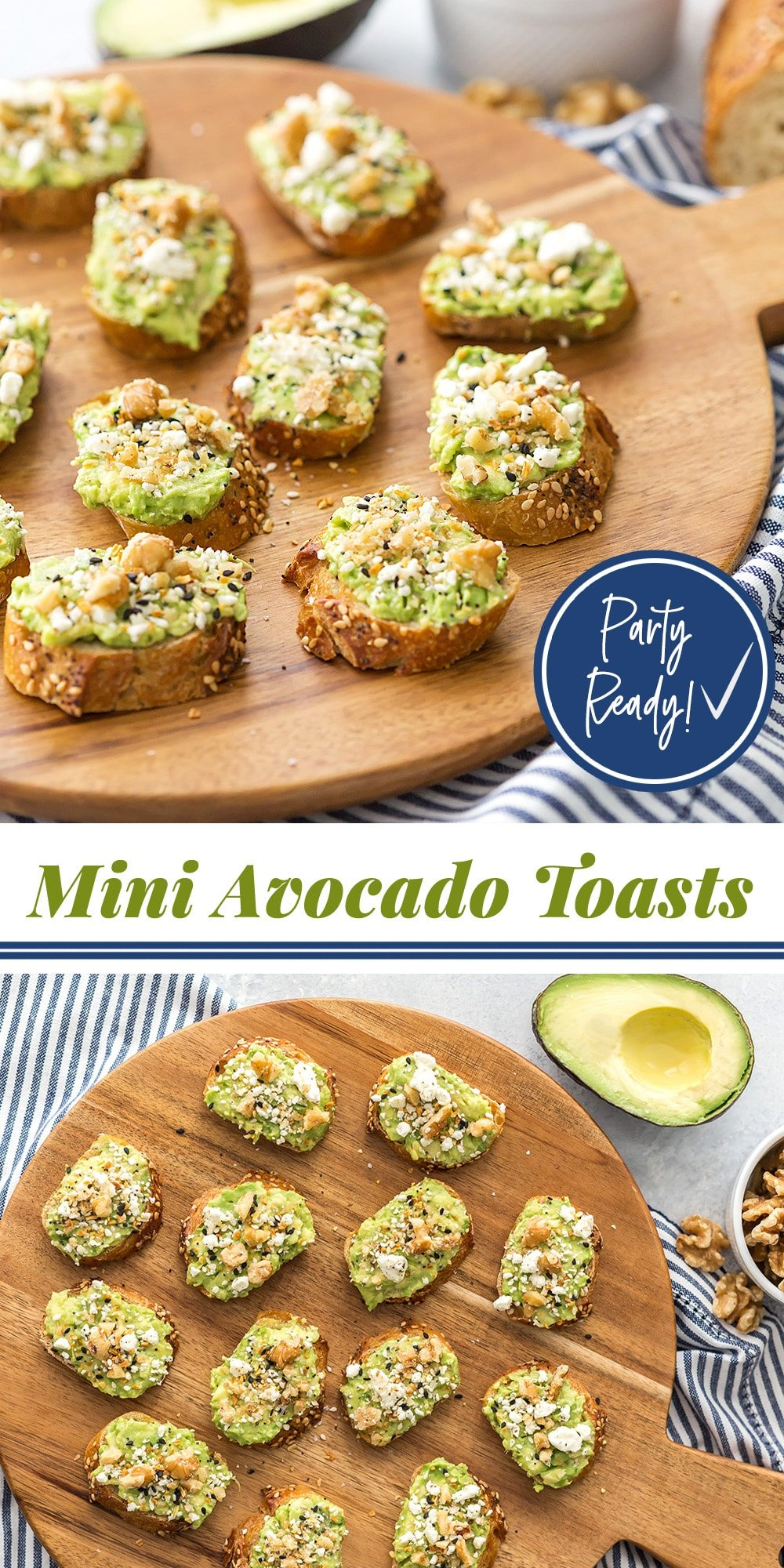 Appetizer Mini Avocado Toasts