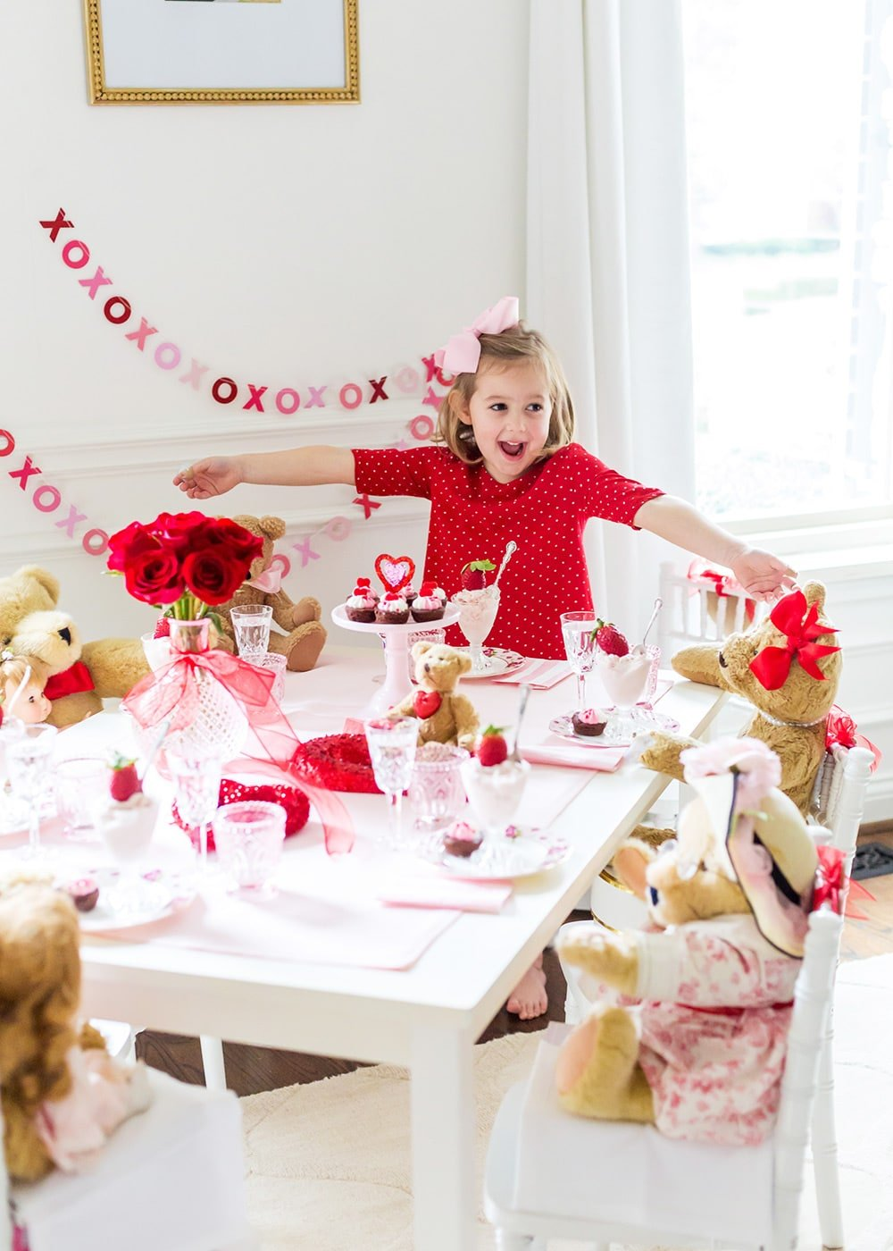 Red and White Kid's Valentines Day party