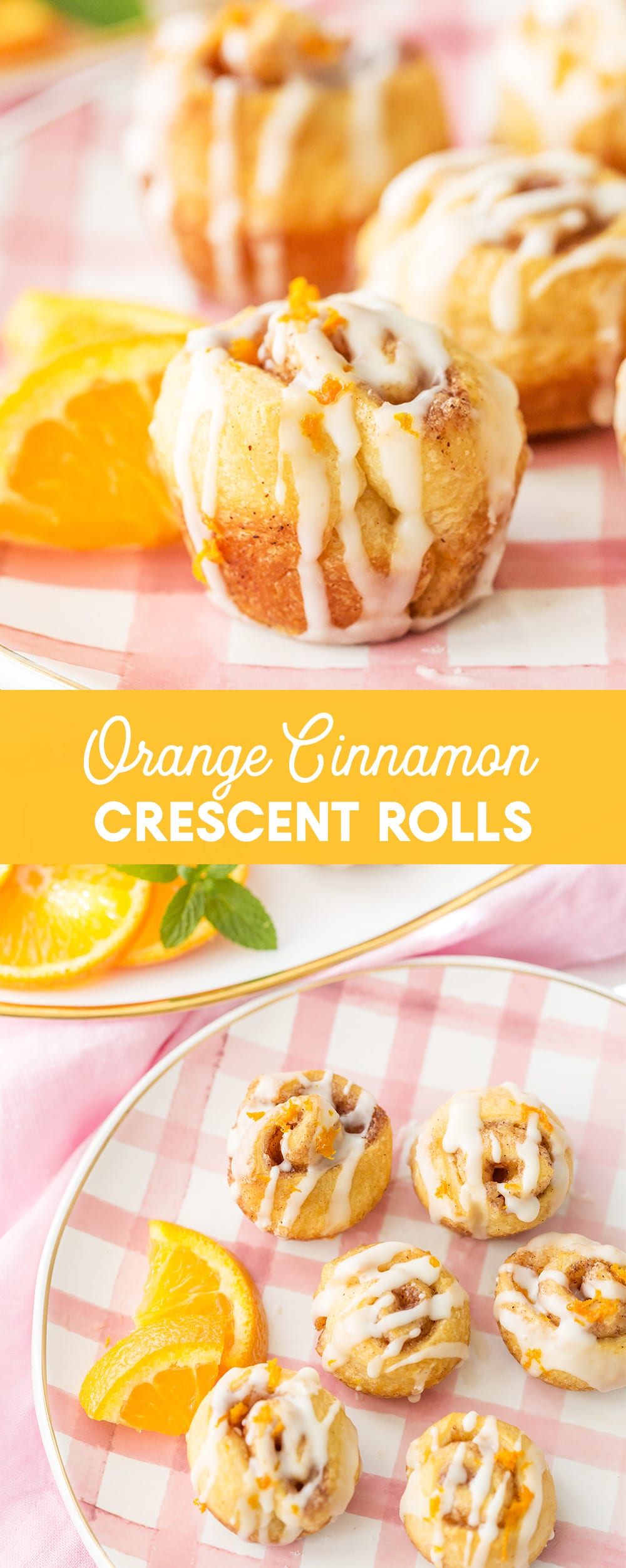 Orange Cinnamon Crescent Rolls
