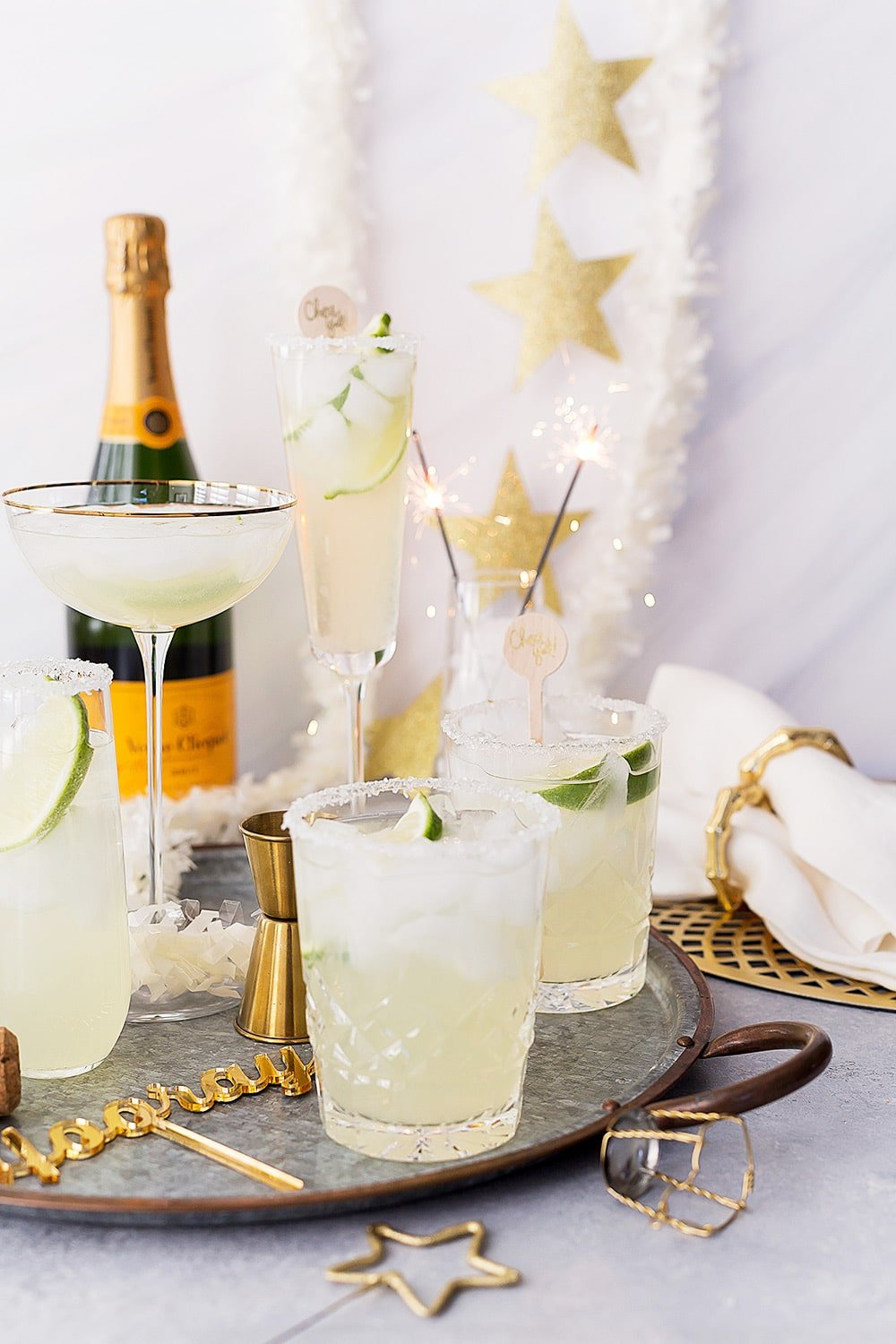 champagne margaritas in a glass
