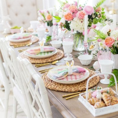 Colorful Easter Table Decor