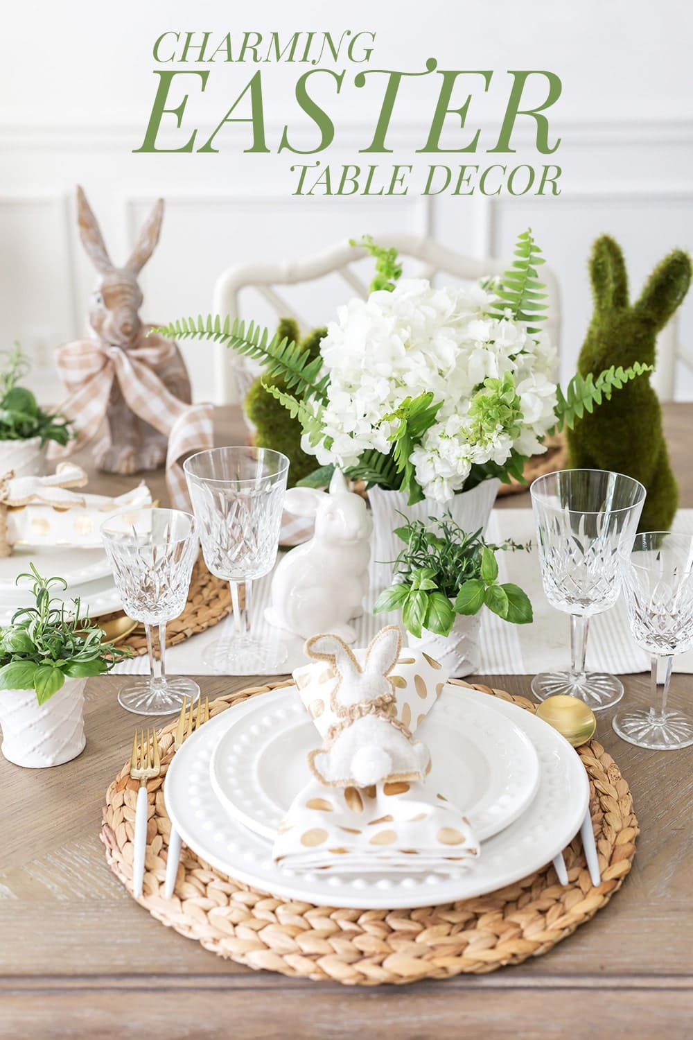 Charming, Neutral Tablescape for Easter