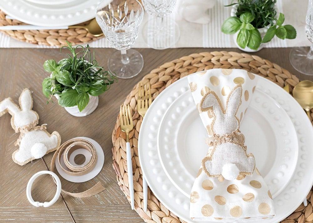 DIY Bunny Napkin Rings