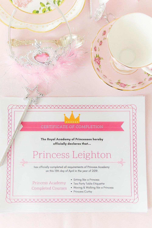 Princess Certificate